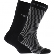 Product Image for Emporio Armani 2 Pack Socks Black